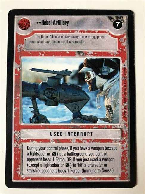 Star Wars CCG (SWCCG) Rebel Artillery