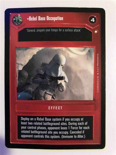 Star Wars CCG (SWCCG) Rebel Base Occupation