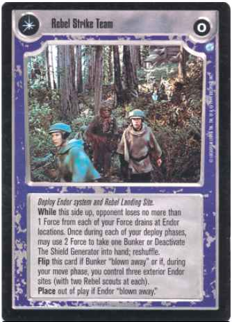 Star Wars CCG (SWCCG) Rebel Strike Team/Garrison Destroyed