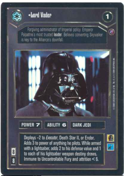 Star Wars CCG (SWCCG) Lord Vader (Foil)