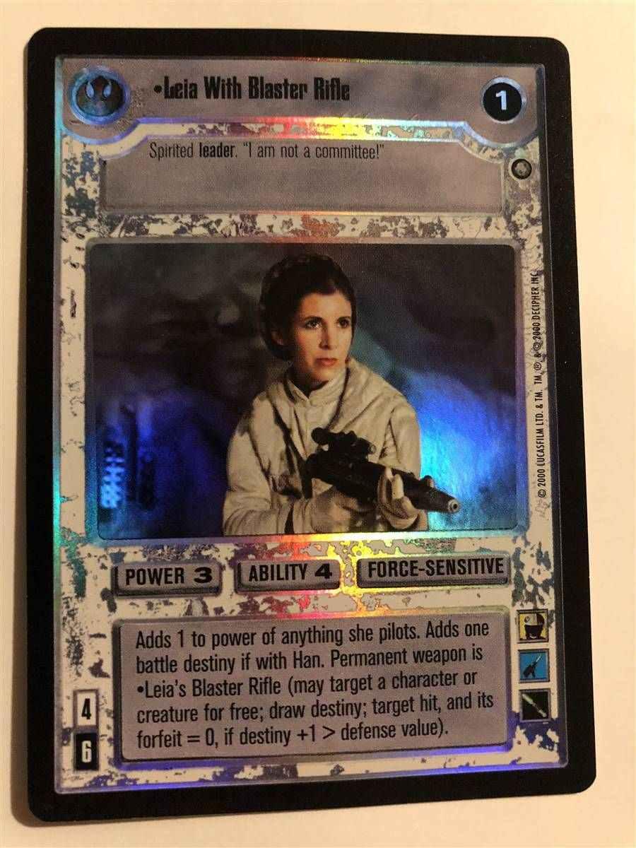 Star Wars CCG Reflections 3 III Foil Amidalas Blaster