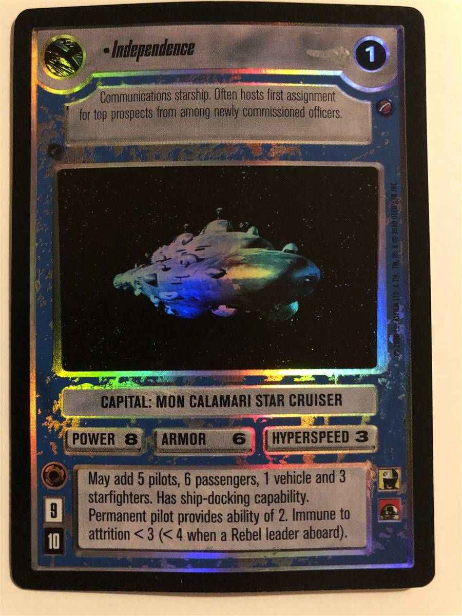 Star Wars CCG Reflections 3 III Foil Anakins Podracer