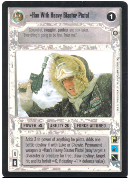 Star Wars CCG (SWCCG) Han With Heavy Blaster Pistol (Foil)