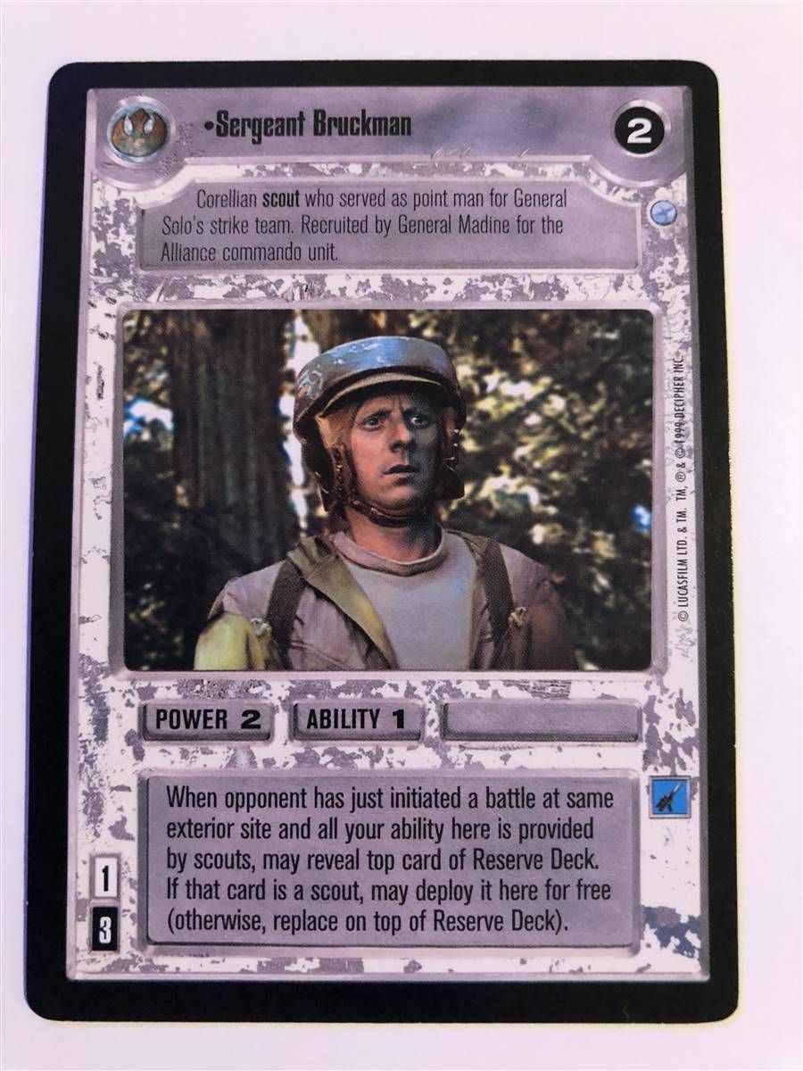 Star Wars CCG Endor Card Commando Training
