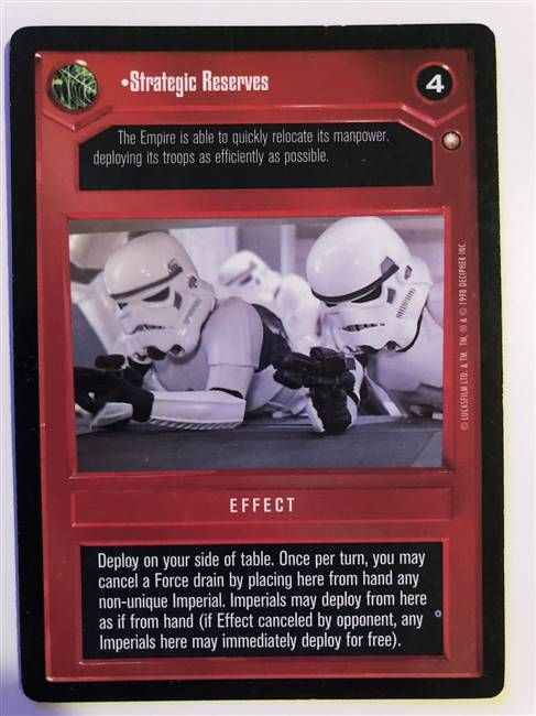 Star Wars CCG (SWCCG) Strategic Reserves