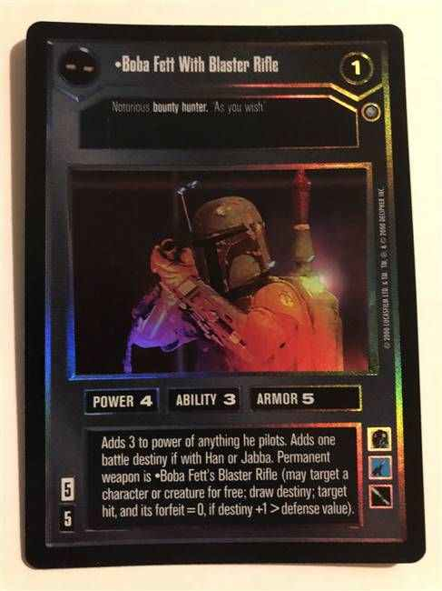 Star Wars CCG (SWCCG) Boba Fett With Blaster Rifle (Foil)