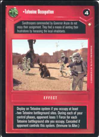 Star Wars CCG (SWCCG) Tatooine Occupation