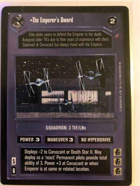 Star Wars CCG (SWCCG) The Emperor's Sword