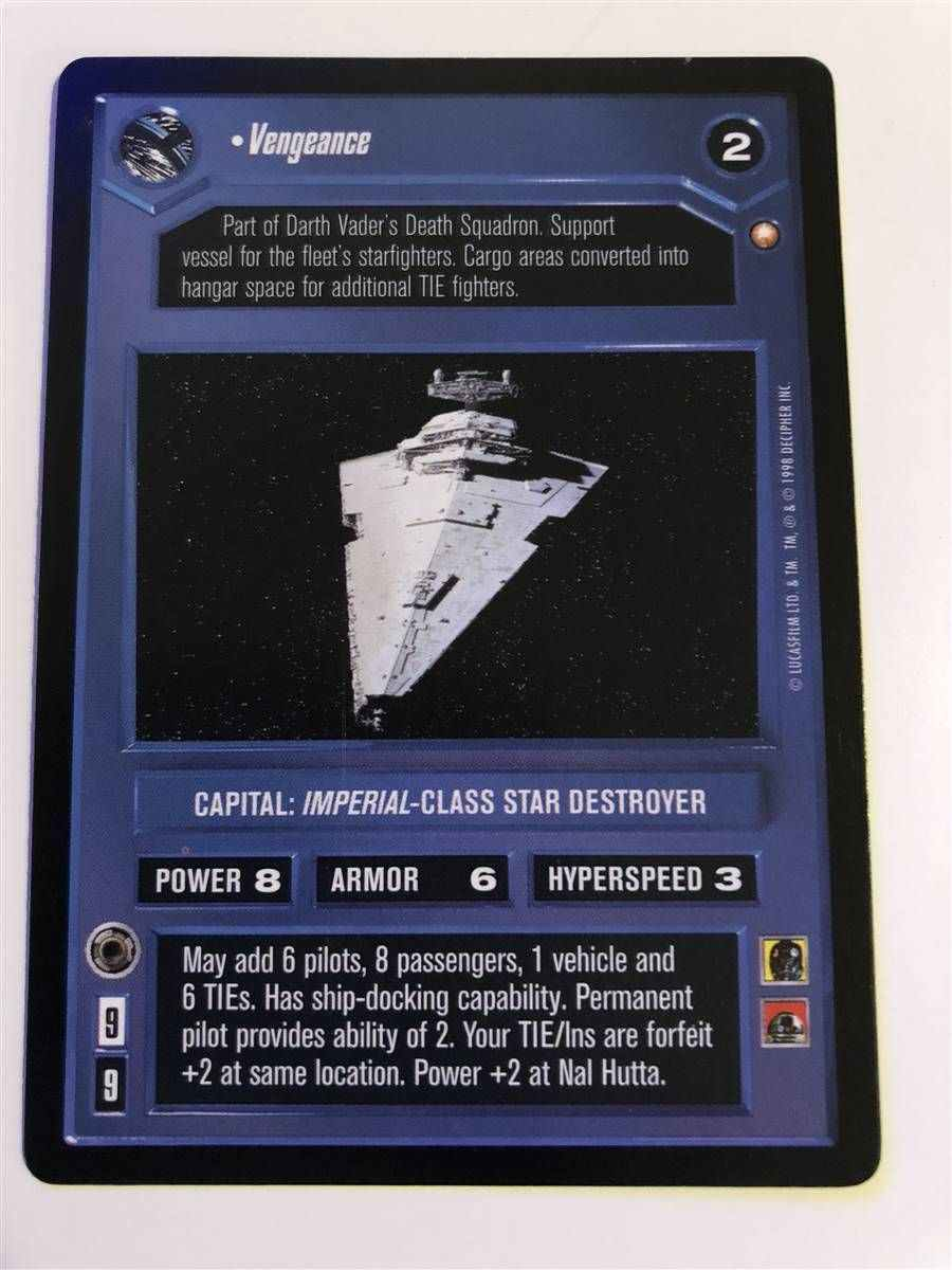 Near Mint//Mint Victory-Class Star Destroyer A NEW HOPE star wars ccg swccg