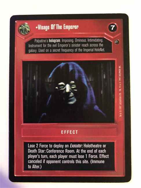 Star Wars CCG (SWCCG) Visage Of The Emperor