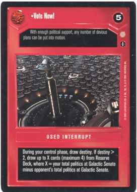 Star Wars CCG (SWCCG) Vote Now!