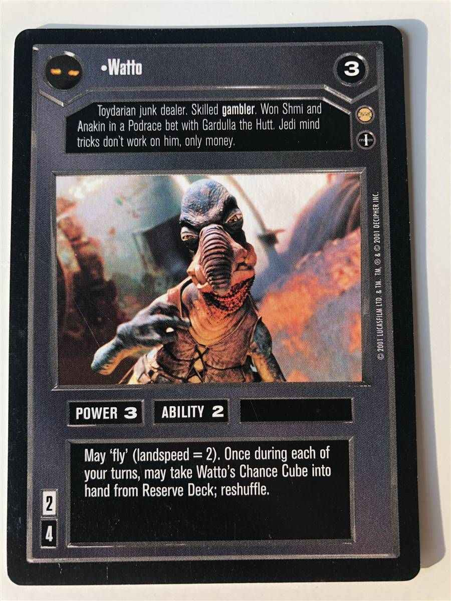 Star Wars CCG Tatooine Wattos Chance Cube