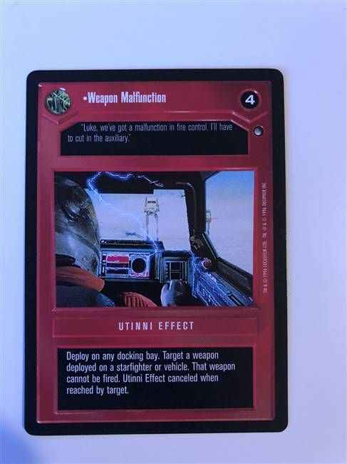 Star Wars CCG (SWCCG) Weapon Malfunction