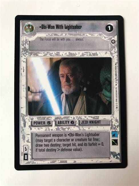 Star Wars CCG (SWCCG) Obi-Wan With Lightsaber