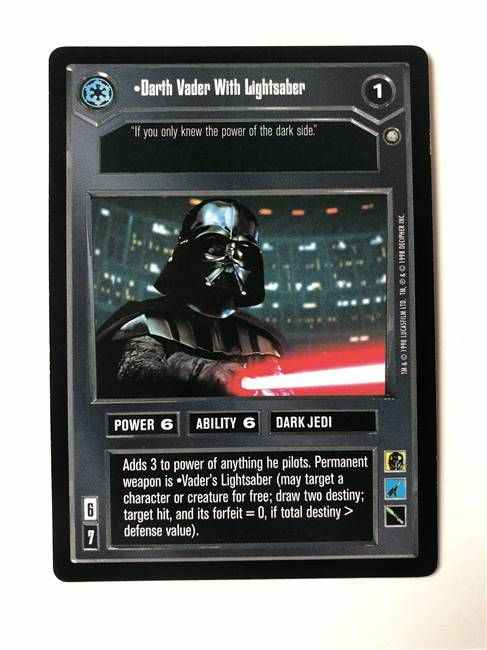 Star Wars CCG (SWCCG) Darth Vader With Lightsaber