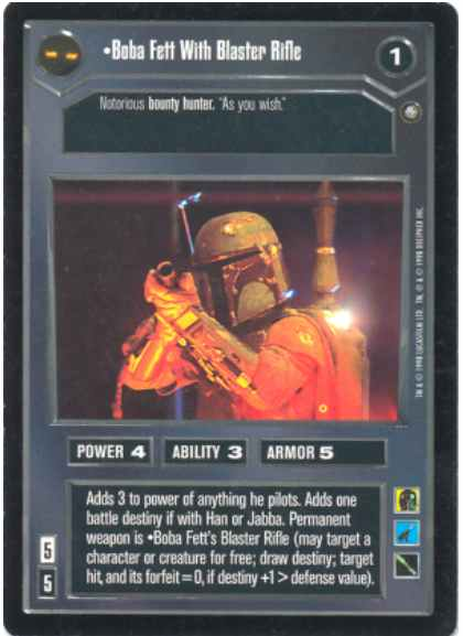Star Wars CCG (SWCCG) Boba Fett With Blaster Rifle