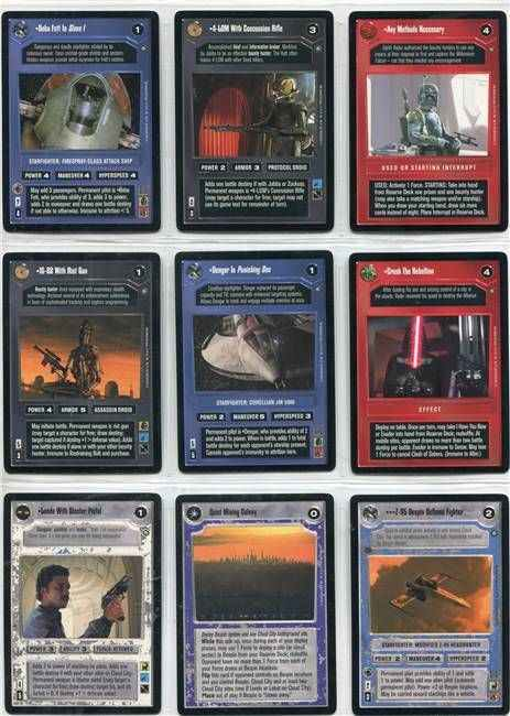 Star Wars CCG (SWCCG) Enhanced Cloud City Complete Set