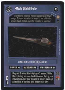 Star Wars CCG (SWCCG) Maul's Sith Infiltrator (AI)