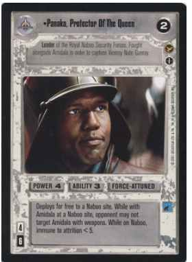 Star Wars CCG (SWCCG) Panaka, Protector Of The Queen (AI)