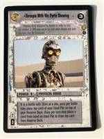 Star Wars CCG (SWCCG) Threepio With His Parts Showing (AI)