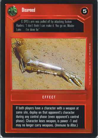 Star Wars CCG (SWCCG) Disarmed