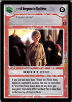 Star Wars CCG (SWCCG) A Vergence In The Force