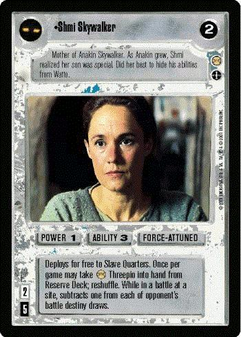 Star Wars CCG (SWCCG) Shmi Skywalker