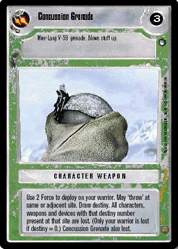 Decipher SWCCG Star Wars CCG Concussion Grenade (WB)