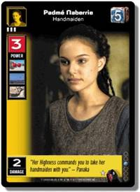 Star Wars Young Jedi CCG Menace of Darth Maul Padme Naberrie, Handmaiden # 5