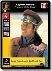 Star Wars Young Jedi CCG Menace of Darth Maul Captain Panaka, Protector # 6