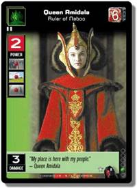 Star Wars Young Jedi CCG Menace of Darth Maul Queen Amidala, Ruler of Naboo # 8