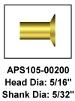 5/16-in Head 5/32-in Shank Brake Rivets for Small Plane Repair | Brown Aircraft Supply