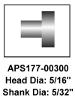 Affordable APS Rivets for Brake Linings & Pads No. 177-00300 | Brown Aircraft Supply
