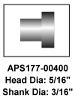 APS177-00400 Brake rivets