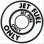 "Buy Round ""Jet Fuel Only"" Sticker Decal for Airplane Marking 