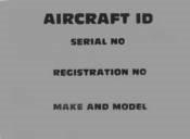 Aluminum Aircraft Decal for Serial No. Reg No & Make + Model | Brown Aircraft Supply