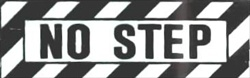 "Buy 1.25""x 3.75"" Self Adhesive ""No Step"" Sticker for Airplanes 