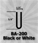 "BA-200 Black or White 3/8"" U-Channel 25 Ft Package"