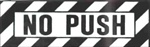 "BA-1 No Push Decal 1 1/4""x 3 3/4"""