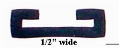 "1/2"" Wide Fuel Tank Strap Chafe Rubber"