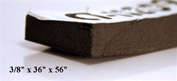 "CT-11809 3/8"" Aluminum Backed Sound Proofing - Aircraft Soundproofing 