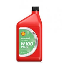 Aero Shell W100 Motor Oil for Aircraft | Brown Aircraft Supply
