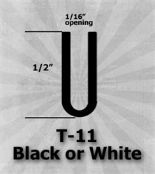 "T-11 Black or White 1/2"" U-Channel 25 Ft Package 