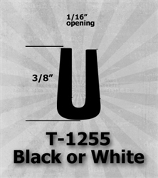 "T-1255 Black or White 3/8"" U-Channel 25 Ft Package 