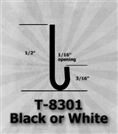 "T-8301 Black or White 1/2"" J-Channel 25 Ft Package"