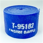 "1/8"" x 2"" x 9' Silicone Engine Baffle (Textured Finish) Blue"