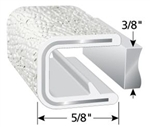 "White Trim Lok Edge Trim 3/8"" X 5/8"""