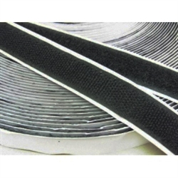 "V-7212-1-AD-150 1"" x 150' Adhesive backed Fire Retardant Velcro (Hook)"