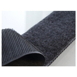 "V-7212-1-B 1"" x 10' Fire Retardant Velcro (Loop & Hook) 
