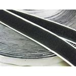 "V-7212-1-B-AD 1"" x 10' Fire Retardant Velcro Adhesive Backed (Loop & Hook)"